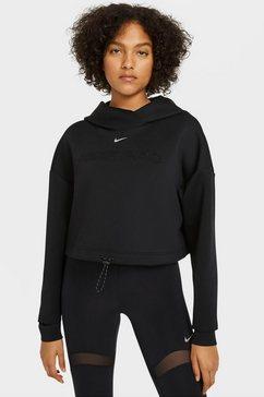 nike sweatshirt nike pro women's hoodie zwart