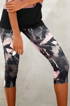 lascana caprilegging »tropical« groen