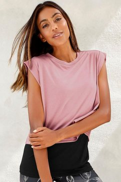 lascana 2-in-1-shirt roze