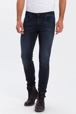 cross jeans slim fit jeans »jimi« zwart