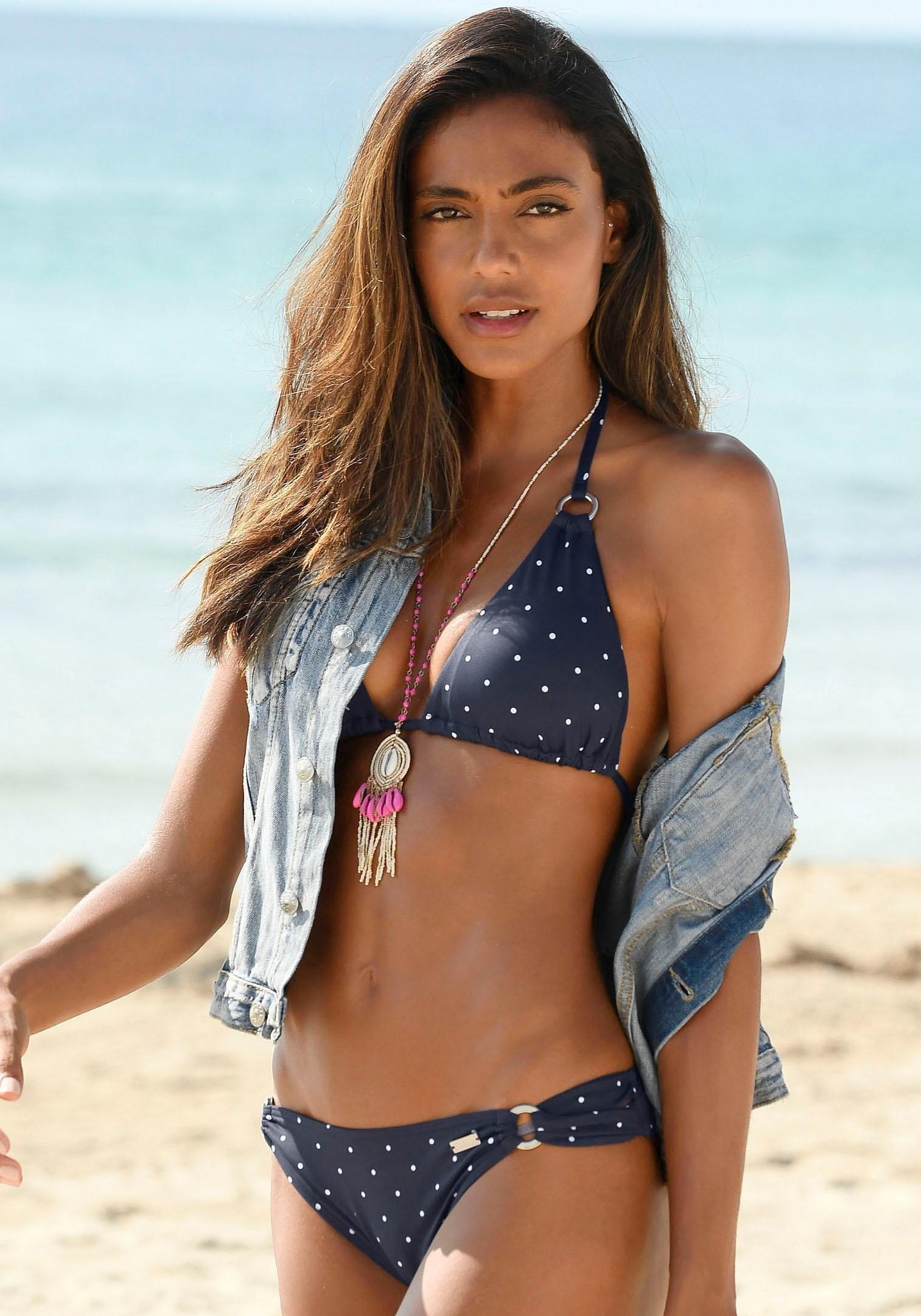 Lascana triangel-bikinitop Sparkel met goudkleurige ringen online kopen op otto.nl
