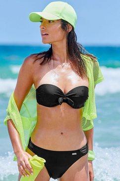 venice beach beugelbikini in bandeaumodel zwart