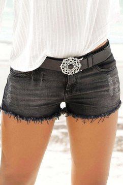 buffalo londen jeans-hotpants zwart