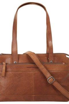 spikes  sparrow handtasche mit tabletfach bruin