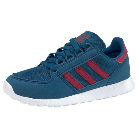 adidas originals Forest Grove C suède sneakers blauw-rood