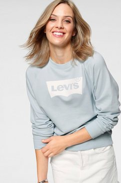 levi's sweatshirt »relaxed graphic crew« blauw