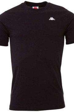 kappa t-shirt authentic veer met trendy ronde hals zwart