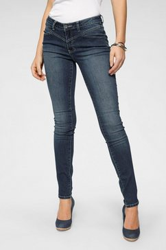 arizona slim fit jeans »shaping mit kontrastnaehten« blauw