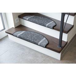 tredemat, »runner«, andiamo, trapvormig, hoogte 9 mm, machinaal getuft grijs