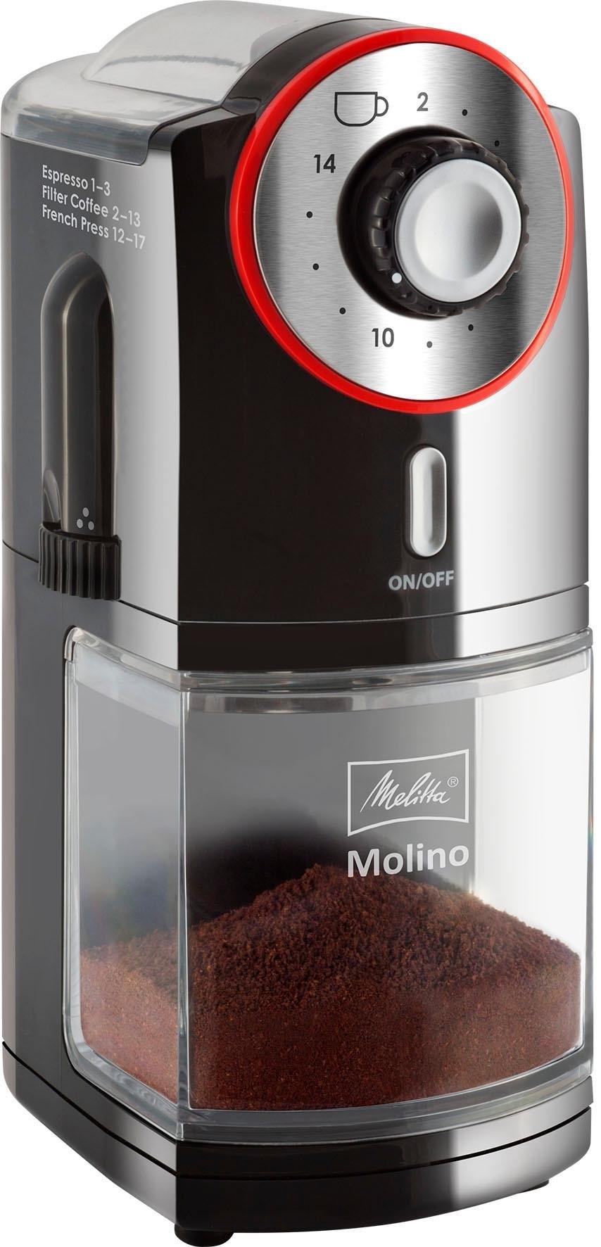 Melitta koffiemolen Molino 1019-01 zwart/rood bestellen: 30 dagen bedenktijd