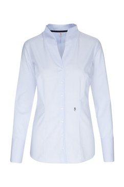 seidensticker klassieke blouse »schwarze rose« blauw