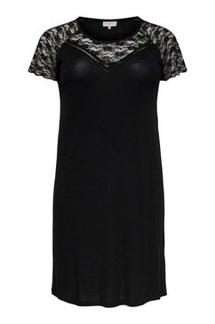 only carmakoma kanten jurk zwart