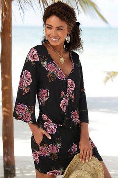 s.oliver red label beachwear strandjumpsuit zwart