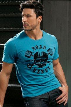 buffalo t-shirt homewear met grote print blauw