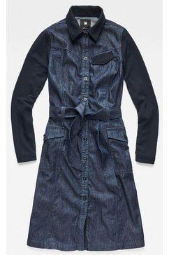 g-star raw jeansjurk »ha army dress l-s« blauw