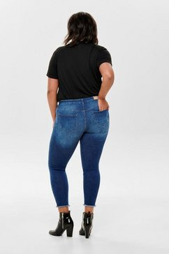only carmakoma skinny fit jeans »willy« blauw