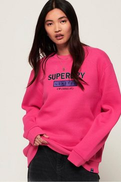 superdry sweatshirt »nineties applique crew« roze