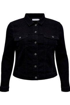 only carmakoma jeansjack zwart
