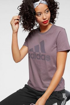 adidas performance t-shirt »batch of sport co tee« paars