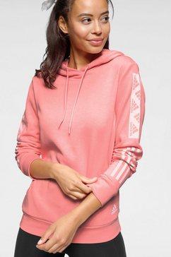 adidas performance hoodie »block po hoody« roze