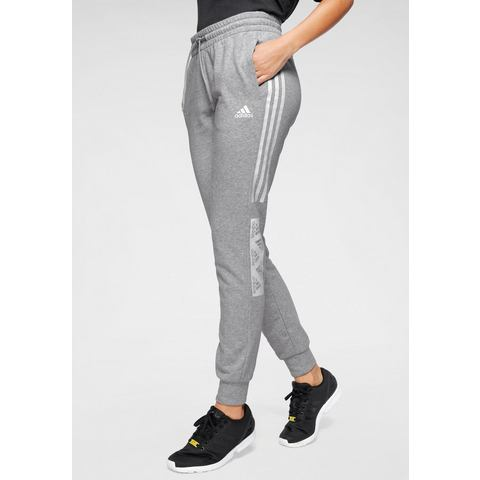 adidas performance joggingbroek grijs melange