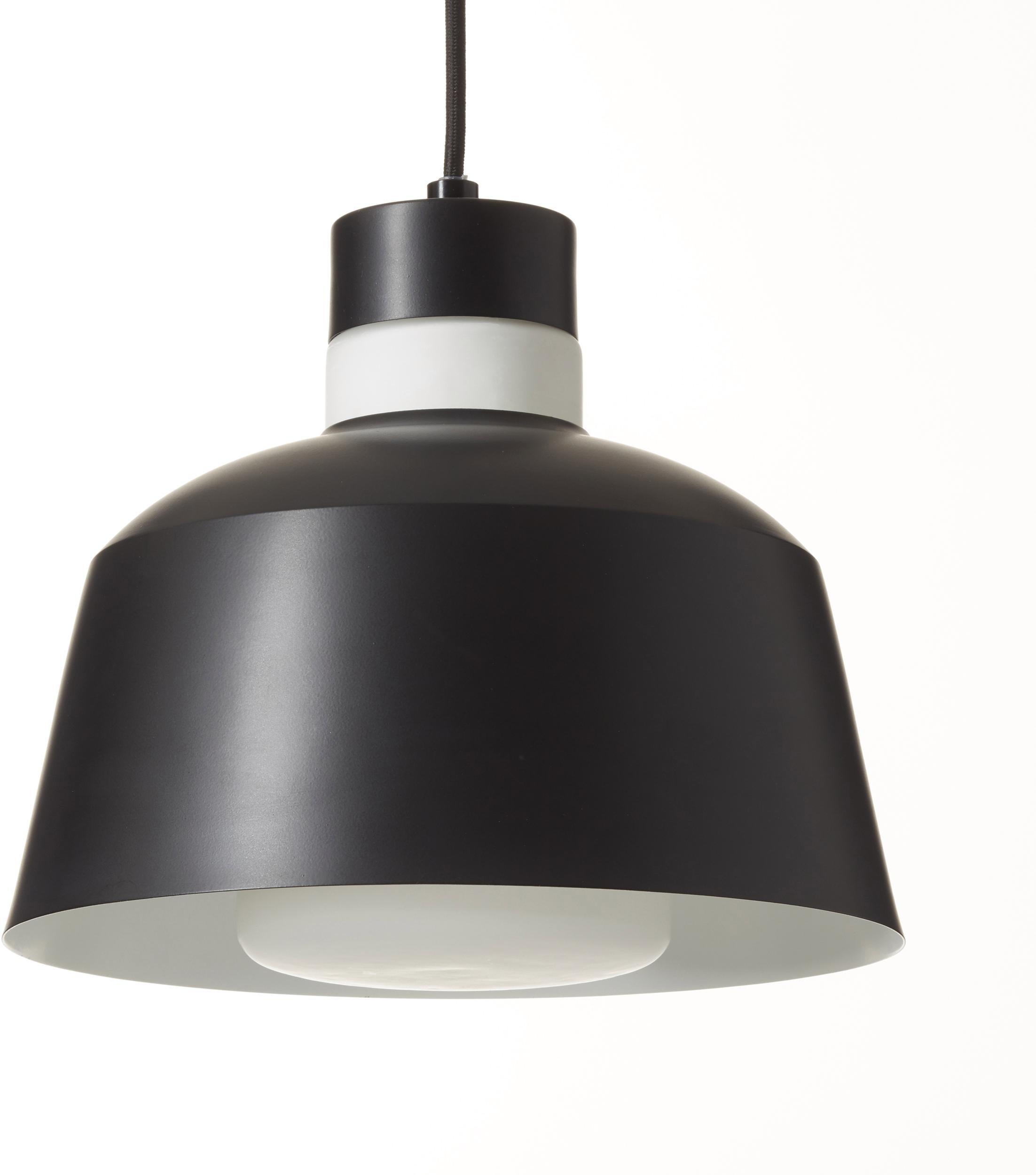 andas hanglamp Colours Hanglamp ø 25 cm met witte ring van opaalglas op de kap, textielpendel bij OTTO online kopen