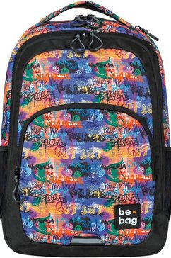 herlitz schoolrugzak »be.bag be.ready, street art« multicolor