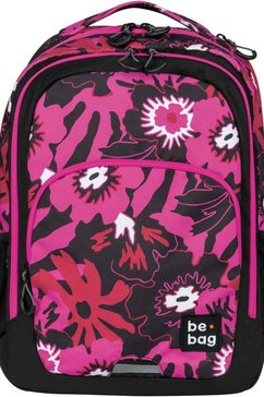 herlitz schoolrugzak »be.bag be.ready, pink summer« roze