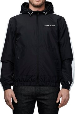 calvin klein windbreaker »statement logo windbreaker« schwarz