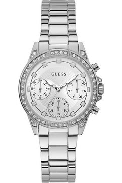 guess multifunctioneel horloge »gemini, w1293l1« zilver