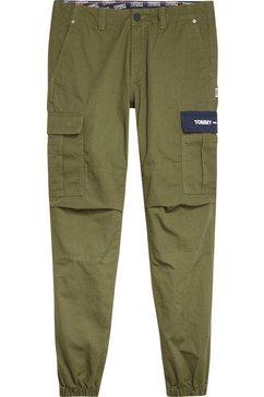 tommy jeans cargobroek »tjm cargo jog pant« groen
