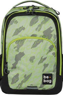 herlitz schoolrugzak »be.bag be.ready, abstract camouflage« groen