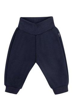 trigema prettige joggingbroek met boorden blauw