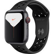 apple watch series 5 44mm nike gps + cellular met nike sportarmband grijs