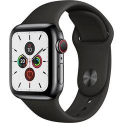 apple watch series 5 40mm gps + cellular met sportarmband zwart