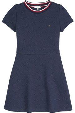 tommy hilfiger skaterjurk »tommy jacquard skater dress« blauw