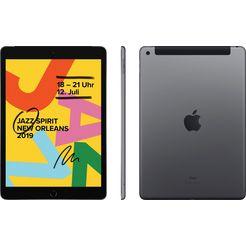 "apple »10.2 ipad wi-fi cellular (2019)« tablet (10,2"", 128 gb, ipados, 4g (lte)) grijs"