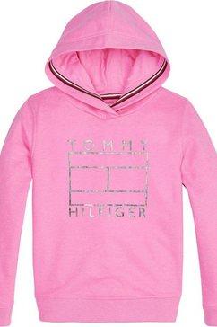 tommy hilfiger hoodie »essential flag« roze