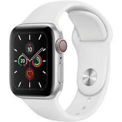 apple watch series 5 40mm gps + cellular met sportarmband zilver