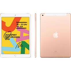 "apple »10.2 ipad wi-fi cellular (2019)« tablet (10,2"", 128 gb, ipados, 4g (lte)) goud"