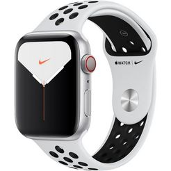 apple watch series 5 nike 44mm gps + cellular met nike sportarmband zilver
