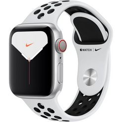apple watch series 5 nike 40mm gps + cellular met nike sportarmband zilver