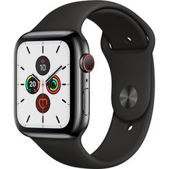 apple watch series 5 44mm gps + cellular met sportarmband zwart