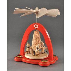 albin preissler kerstpiramide tafelpyramide - winterkinderen rood
