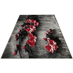 vloerkleed, »freya«, my home selection, rechthoekig, hoogte 8 mm, machinaal geweven rood