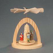 albin preissler kerstpiramide warmtemobiel - de geboorte van jezus beige