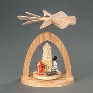albin preissler kerstpiramide warmtemobiel - kerstman met slede en ringelbaeumchen beige