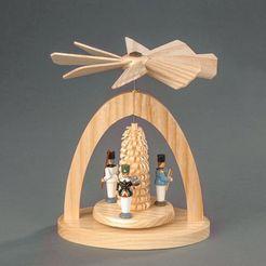 albin preissler kerstpiramide warmtemobiel - mijnwerkers beige