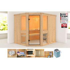 konifera sauna »angelina 2« beige