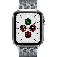 apple watch series 5 44mm gps + cellular met milanaise armband zilver